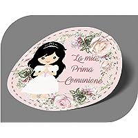 20 pezzi Adesivi tondi Prima Comunione Bimba, 40 millimetri, etichette cresima, thank you stickers, grazie, festa, tondo…