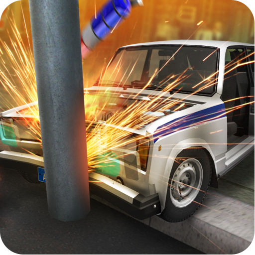 Real Car Crash Police 3D Mobile Trunk