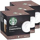 Starbucks Nescafé Dolce Gusto Cappuccino Lot de 3 boîtes de 12 Capsules de café Café crème