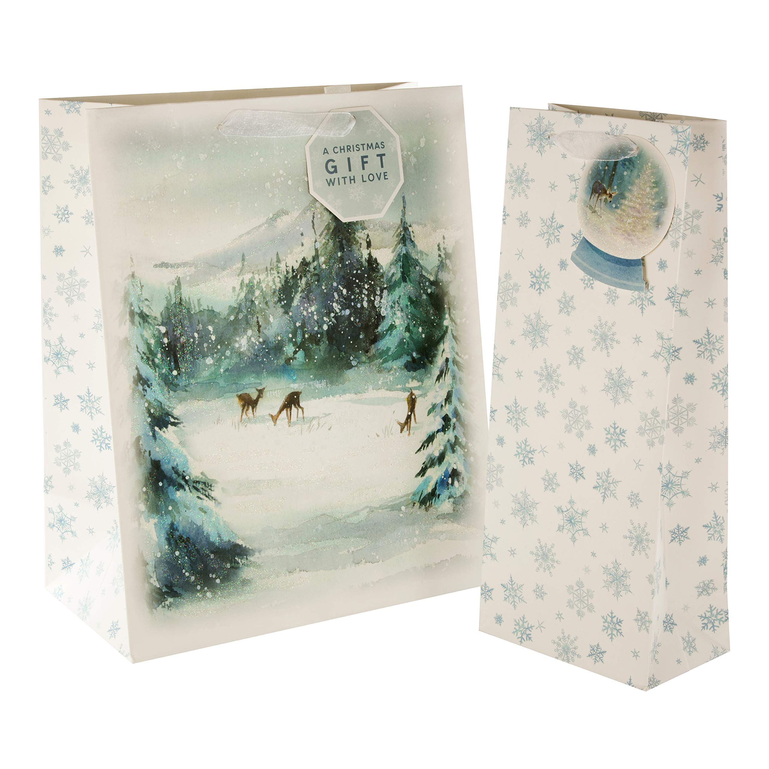 Winter Wonderland Christmas Bag Bundle from Hallmark  332 Bags in 332  Co Ordinating Designs with Matching Tags   Get Ahead Christmas
