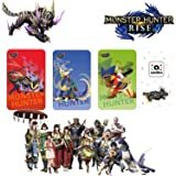 3PCS Monster Hunter Rise NFC Tag Card (Include: Palamute, Palico, Magnamalo), Compatibile Con Switch / Switch Lite, Dimension