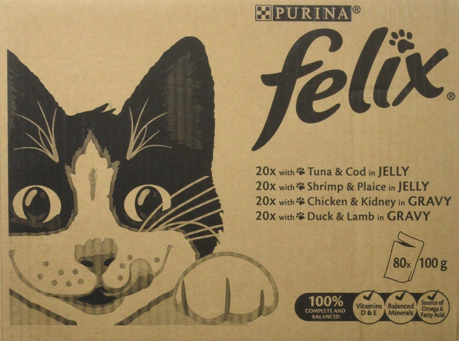 Felix – Alimento húmedo para gatos adultos, 120 Bolsas