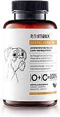 animaux – dental Herbs 365 für Hunde | mit Spirulina, Grünem Tee und Granatapfel | 60 Tabs