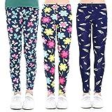 Coralup Leggings elásticos para niñas para niños, pantalones casuales con estampado floral de longitud completa de 2 a 13 año