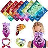 Bandanas for Women Novelty Gradient Cotton Handkerchief