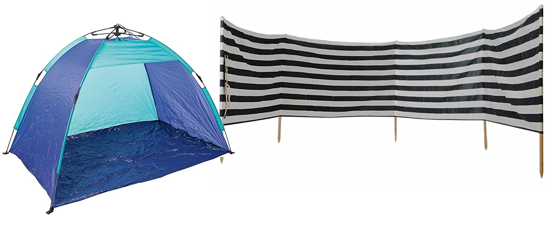 Windschutz Sichtschutz Strand Urlaub blau weiß limited Edition aus