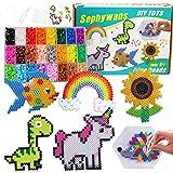 Sephywans perline da stirare, 4800Pcs 5mm 24 Colori Perline a Fusione Set per Fare Artigianato per Bambini, Kit di Arte e Art