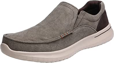 Bruno Marc Men's Dockey Slip On Trainers Lightweight Loafers Casual Walking Shoes