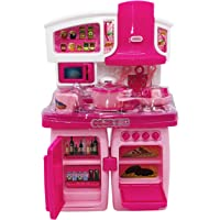 Toyify, Kids Kitchen Playset, 2 in 1 Convertible Mini Kitchen Set Toys, Pretend Playset with Sound Light & Kitchen…