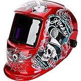 LESOLEIL Masque de Soudage - Masque de Soudeur Casque de Soudage Automatique Actionné Li-Mi&Solaire DIN 9-13 avec 2 Capteurs
