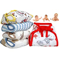 MOM CARES Muslin Cloth Nappiies For Newborn Baby ,Reusable Diapers, Cotton Langots,U Shaped Double Layer Padded Extra…