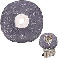 QINREN Halskrause Katzen Halsband Soft Weich Katze Schutzkragen Anti Biss Safety Einstellbarer Schützender Kragen für…