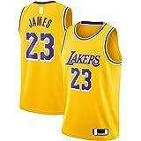 BAOZU Oro -Jersey de baloncesto personalizado Los Angeles Mesh Jersey LeBron Poliéster #23 Swingman Jersey Icon Edition