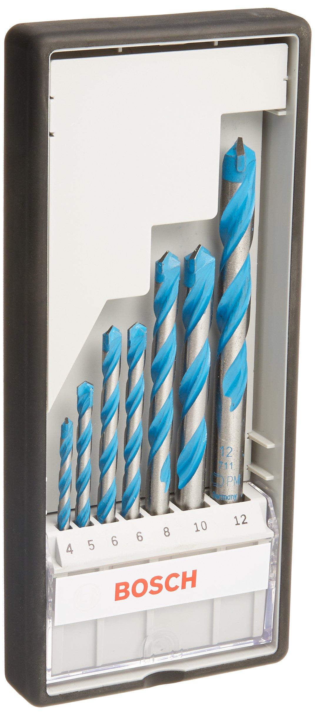 Bosch Professional – Juego de 7 brocas multiuso Robust Line CYL-9 MultiConstruction (4 5 6 6 8 10 12 mm)