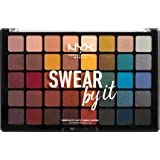 NYX Professional Makeup Paleta de sombra de ojos Swear By It Eye Shadow Palette, Tonos fríos y cálidos, Acabado mate, satinad