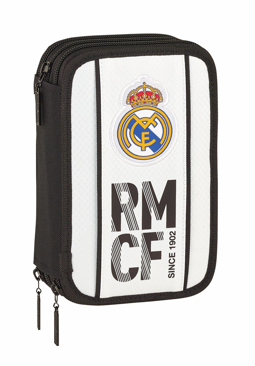 Safta Real Madrid 2018/2019 Plumier Triple 41 Piezas Real Madrid 20.5×13.5cm, Blanco