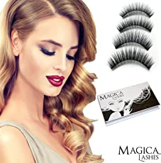 Magnetische Wimpern, Dual Magnetic Eyelashes, 100% 3D Silk Wimpern, Wiederverwendbar Und Grausamkeit Frei, 1 Paar 4 Stuck Handgemachte Top Qualität Von Magica Lashes™, New 2018 Collection Verfügbar