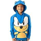 Sonic The Hedgehog Sudadera con Capucha Personaje 3D Orejas Niños Niños Azul