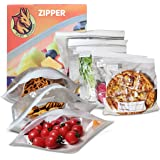 Sac Congélation Zip 30 Pièces Alimentaire double Fermeture Ultra Zip 100% hermétique ,Sacs congélation pour la protection et