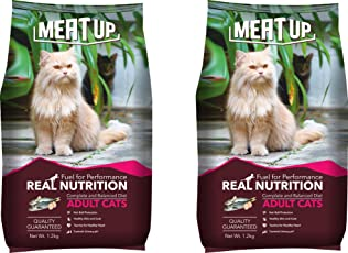 Meat Up Adult Cat Food, 1.2 Kg (Buy 1 Get 1 Free)