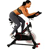 Sunny Health & Fitness Indoor Cycling Wheel with Magnetic Belt Drive, 136kg Max Weight, 20kg Flywheel, Pedal Hook SF-B1805 Ta
