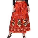 Jaipuri Fashionista Presents Jaipuri Rajsthani Full Long Cotton Skirt for Girls and Women (Free Size Waist Upto 38)