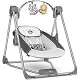 Lionelo Otto Columpio portátil para bebés hasta 9 kg 57 x 55 x 67 cm 5 velocidades de balanceo Facilita el sueño Fácil montaj