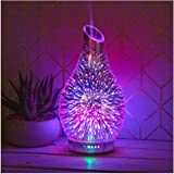 The Leonardo Collection Humidifier Lamp Oil Diffuser Colour Changing LED Light Black Marble