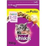 Whiskas Junior kattenvoer kip, 5 verpakkingen (5 x 950 g)