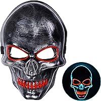 Joyjoz Halloween Mascara LED Mask para Adultos y niños, Mascaras de la Purga para Disfraces de Halloween Cosplay...