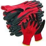 Werkhandschoenen - solide montagehandschoenen met latex coating, rood