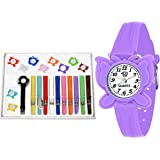 SWADESI STUFF Analogue Girl's Watch ( White Dial Multicolored Strap )