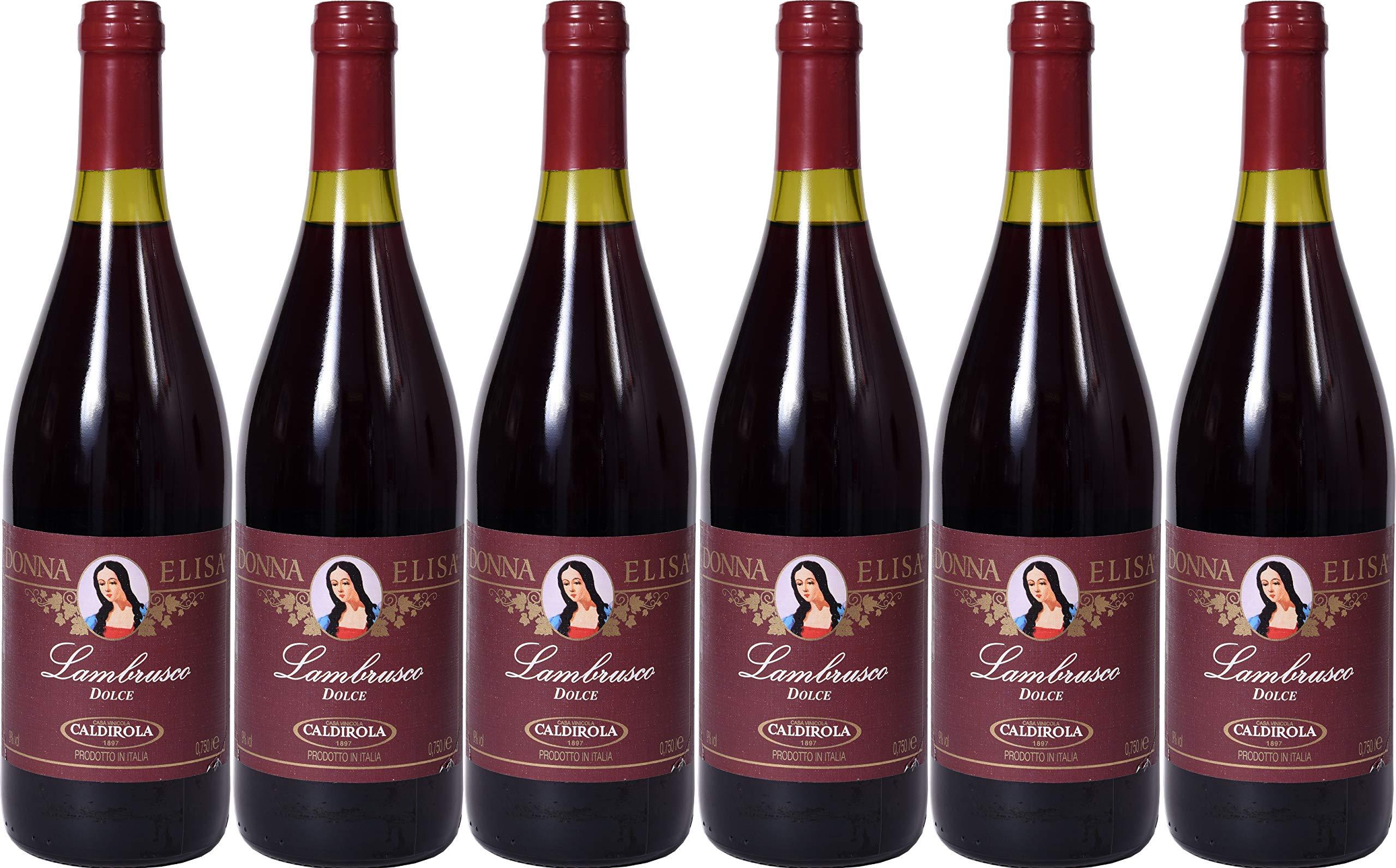 Lambrusco-rosso-dolce-Puglia-Donna-Elisa-Caldirola-IGT-6-X-075-L-Vino-Roter-Ser-9-Vol-aus-Italien