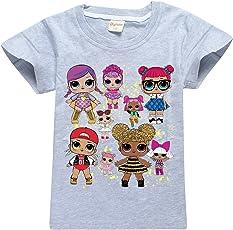 SERAPHY L.O.L Surprise Magliette per Ragazze Dolls Cartoon Game Girl's T-Shirt per Bambini Top
