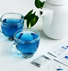 Blue Tea Lavender Zero Caffeine, High on Anti-Oxidant, Ingredients : Butterfly Pea Flower, 12 Teabags 24Cups