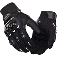 AutoKraftZ-AZ-PROBIKER-Gloves-BLK-XL Full Racing, Riding, Motorcycle Driving Gloves (Black, Extra Large)