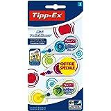 Tipp-Ex Mini Pocket Mouse Rubans Correcteurs 6 m x 5 mm - Couleurs Fantaisies Assorties, Blister Format Spécial de 3