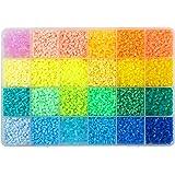LIHAO 12000 Perles à Repasser, Taille Mini 2.6mm, 24 Couleurs avec Boîte de Rangement pour Loisir Créatifs - Version A