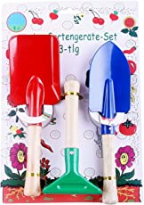 Kids Garden Tools Set by Divine Tree Perfect Gift for Kids/Childrens on Christmas, Birthdays and Many More Occasions 3 Pcs Kids Gardening Toys (Trowel,Shovel,Rake)