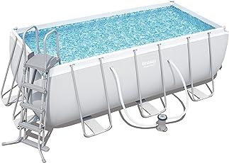 Bestway Power Steel Frame viereckig Pool Set