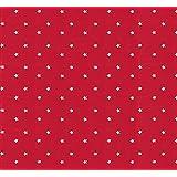 Wachstuch Tischdecke Abwaschbar Eckig 140 x 240 cm Sterne Rot