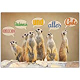 A4 XXL Glückwunschkarte ERDMÄNNCHEN mit Umschlag - edle Klappkarte geeignet für alle Anlässe wie Geburtstag Hochzeit Jubiläum Karte von BREITENWERK
