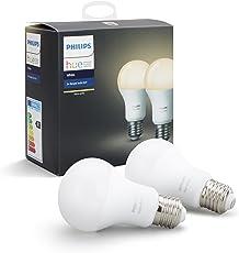 Fesselnd Philips Hue White E27 LED Lampe Doppelpack, Dimmbar, Warmweißes Licht,  Steuerbar Via App