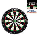 "Dartboard Game with Mounting Brackets, 18"" by Rally and Roar - Bristle Dart Board for Bars, Arcades, Billiard Rooms..."