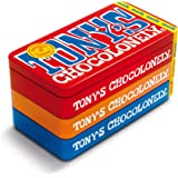 Tony's Chocolonely - Stapelblik - 3 x 180 gram - 3 Verschillende Chocoladerepen - Fairtrade Chocolade