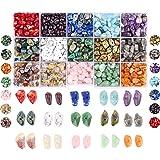 Lijmset met kleine onregelmatige edelstenen, natuurlijke helende stenen, losse parels voor het maken van sieraden, halskettin