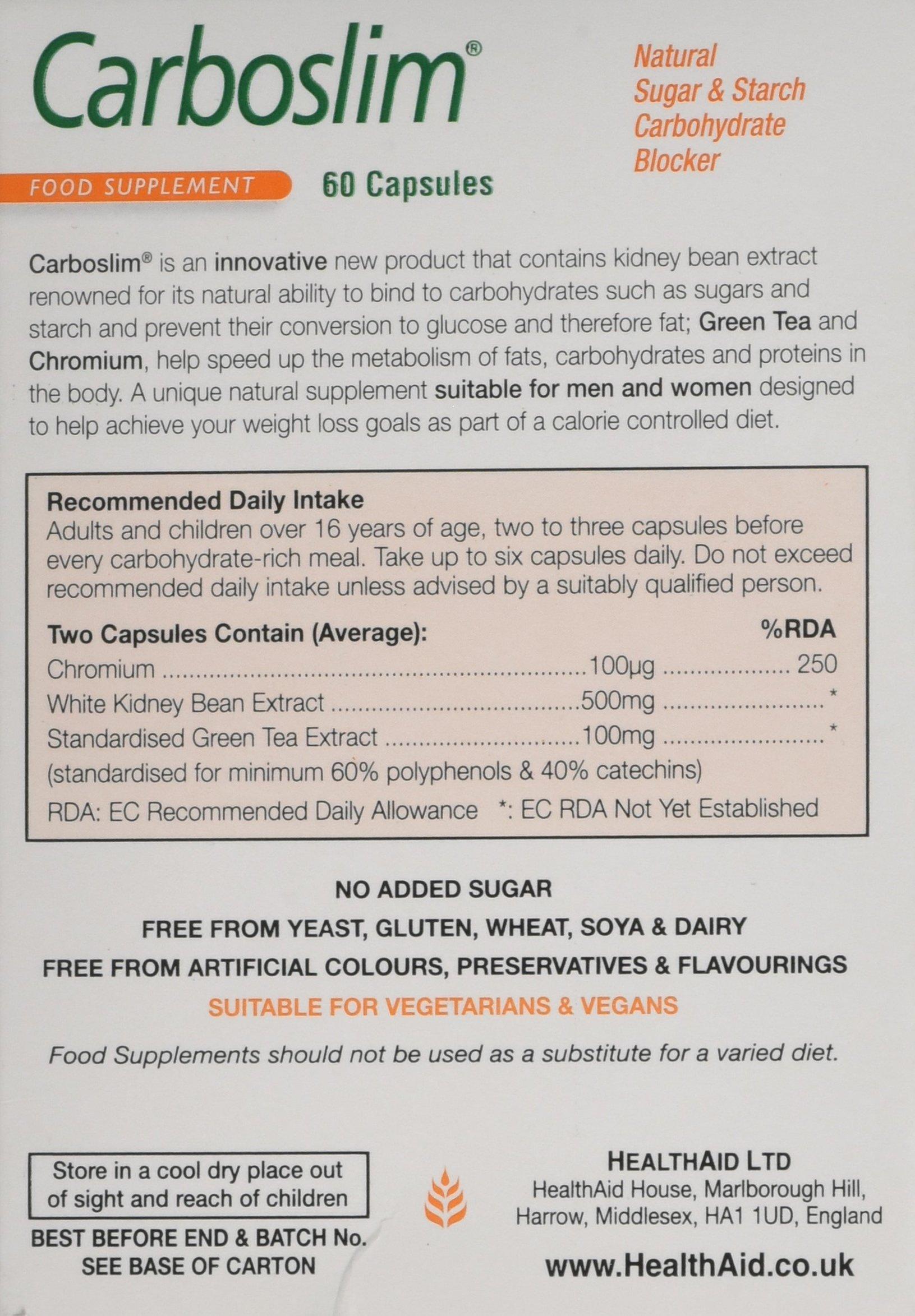 81YyVSGs9kL - HealthAid Carboslim - Kidney Bean Extract - 60 Vegan Capsules