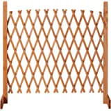 easylife lifestyle solutions Solid Wood Expanding Fence | Mobile and Movable Fence | Gardeners & Pet Owners | Fold-able…