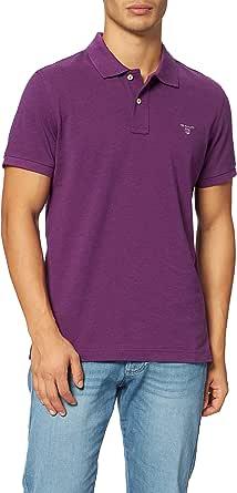 GANT Men's Solid Pique Rugger Short Sleeve Polo Shirt