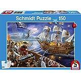 Schmidt Spiele- Puzzle Infantil de Aventuras con los Piratas (150 Piezas), Color Azul (SCH56252)